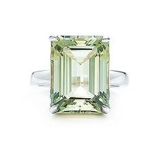 Tiffany Sparklers  Praseolite cocktail ring: Emerald cut praseolite and sterling silver. Yes, there are knock offs out there.  #Ring #Tiffany_&_Co #Praseolite