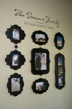 Our wedding photo display.
