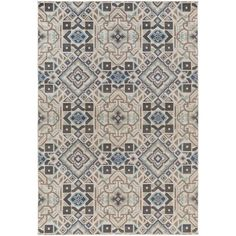 Found it at Wayfair - Septfontaines Teal, Beige & Charcoal Area Rug