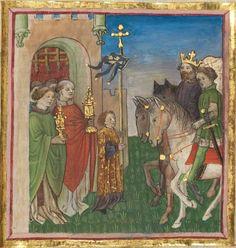 Albrecht : Jüngerer Titurel (2. Teil, ab Str. 2822) 1. Hälfte 15. Jh. Cgm 8470 Folio 237