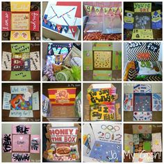 Best care package websites and places for finding inspiration. Love these-- saving for deployment Crafts For Teens To Make, Crafts To Sell, Easy Crafts, Diy And Crafts, Camp Care Packages, Deployment Care Packages, Missionary Packages, Craft Projects, Projects To Try