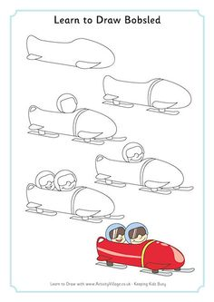 Learn to draw bobsled  -Repinned by Totetude.com