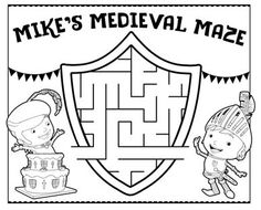 Mike the Knight party placemats are the perfect way to pass the time while waiting for the royal feast! Prince Party, Princess Tea Party, Princess Birthday, Army's Birthday, 3rd Birthday Parties, Birthday Ideas, Mike The Knight, Fairy Tale Activities, Castle Party