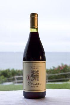A local favorite, Navarro Pinot Noir.