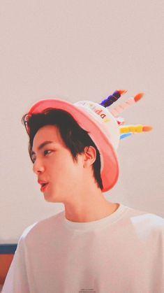 Foto Bts, Birthday Background Wallpaper, Kim Seokjin Birthday, Birthday Girl Pictures, Jin Kim, Happy Birthday Fun, Worldwide Handsome, Bts Pictures, Kpop