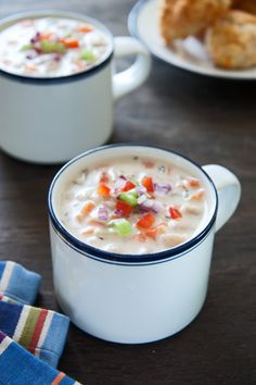 "We interrupt our normally scheduled programming to bring you ""Soup-a-palooza""!!! White Bean Chowder!"
