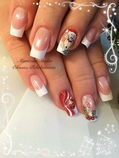 Christmas Nail Designs - My Cool Nail Designs Glitter Manicure, Gold Nails, Stiletto Nails, Nail Manicure, Xmas Nails, Holiday Nails, Christmas Nails, Winter Christmas, Christmas Ideas