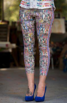 Sarah Beetson Digital Print Leggings - Sarah Metamorphosis Print