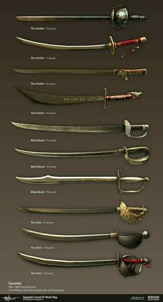 Entertainment Discover ArtStation Assassins Creed IV Black Flag: Multiplayer Weapons Gaëtan Perrot Swords And Daggers Knives And Swords Armas Ninja Armadura Medieval Medieval Weapons Weapon Concept Art Pirate Life Art Station Katana