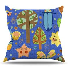 East Urban Home Lightning Bug by Jane Smith Outdoor Throw Pillow