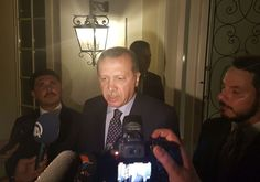 Turkish President Tayyip Erdogan speaks to media in the resort town of Marmaris, Turkey. (צילום:REUTERS)