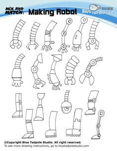 robot handout - drawing arms