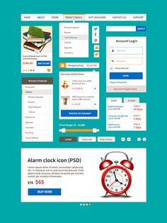 Ecommerce Flat UI Kit Vol.1 (Free PSD)