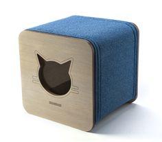 CUBO Cat bed, scratcher and cat cave