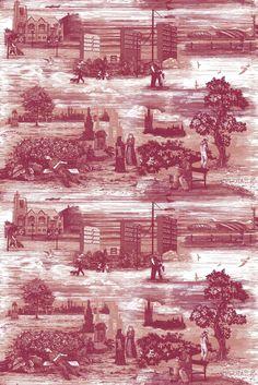 Timorous Beasties, Glasgow Toile Fabric.
