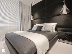Apartament Olimpijski w Darłowie - Średnia sypialnia małżeńska, styl nowoczesny - zdjęcie od Fabryka Wnętrz Alina Szymańska