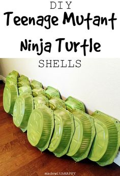 DIY Teenage Mutant Ninja Turtle Shells for your TMNT birthday party! Turtle Birthday Parties, Ninja Birthday, 5th Birthday, Birthday Ideas, Carnival Birthday, Birthday Cakes, Birthday Recipes, Card Birthday, Birthday Wishes