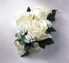LOVE this corsage!  I would have it made with navy blue ribbon