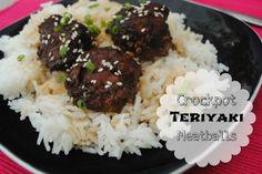 Crockpot Teriyaki Meatballs