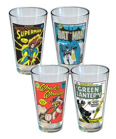 DC Comics Vintage Cover Pint Glass Set