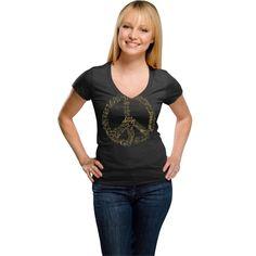 College Purdue Boilermakers Women's Black Tri-Blend V-Neck T-Shirt