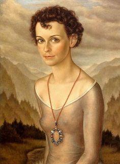 Portrait of Bettina Mittelstädt (Later Bettina Schad) - 1942 by the Weimar painter Christian Schad.
