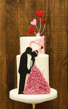 wedding cakes silver Kissing silhouette wedding cake Kissing silhouette wedding cake Always aspired to discover how to knit, nevertheless uncertain the place to start That . Amazing Wedding Cakes, Wedding Cakes With Flowers, Wedding Cupcakes, Kissing Silhouette, Silhouette Wedding Cake, Silhouette Cake, Bolo Artificial, Bolo Fack, Cupcakes Decorados