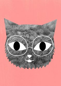 ...Cat with Glasses by Audrey Jeanne