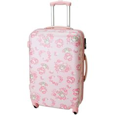 My Melody Zip Around Travel Carry Bag Suitcase Rose Large Size TSA... (975 BRL) ❤ liked on Polyvore featuring bags, luggage and bags/purse