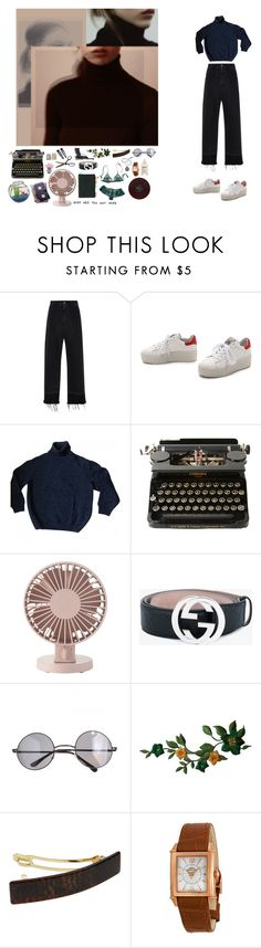 """""""she was more like a beauty queen"""" by lauryn16 ❤ liked on Polyvore featuring Rachel Comey, Ash, Kenzo, Clips, Muji, Gucci, Retrò, France Luxe, Girard-Perregaux and Maison Margiela"""
