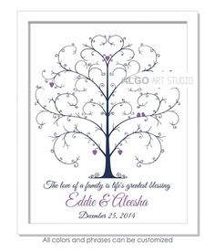 Fingerprint Guestbook, Thumbprint Tree, Wedding Fingerprint Tree, Retire Gift…