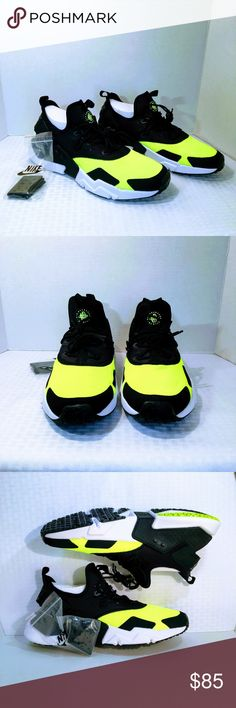 competitive price 8f3fb e067e NWOB Nike Air Huarache Drift in Black   Volt New without Box - These Nike  Air Huarache Drifts depart from the classic Huarache silhouette with the  sharp ...