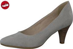 Tamaris Schuhe 1-1-22475-28 bequeme Damen Pumps, Sommerschuhe für modebewusste Frau, grau (GREY), EU 39 - Tamaris schuhe (*Partner-Link)