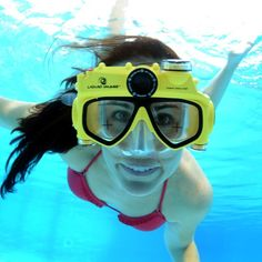 The Underwater Digital Camera Swim Mask from Liquid Image is a hands-free swim mask equipped with an 8.0-megapixel digital camera with a 74-degree field of view.
