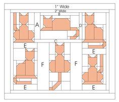 باترونات وحدات باتشوورك-patchwork units patterns (With images) Cat Quilt Patterns, Paper Piecing Patterns, Pattern Blocks, Patchwork Patterns, Sewing Patterns, Dog Quilts, Animal Quilts, Patchwork Quilting, Small Quilts