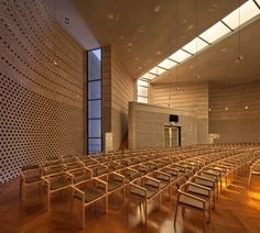 Image 14 of 28 from gallery of BUFS Chapel / Architects Group RAUM + Nikken Sekkei. Photograph by Yoon Joon-hwan Church Interior, Interior And Exterior, Interior Design, Religious Architecture, Interior Architecture, Church Sermon, Modern Church, Church Design, Church Building