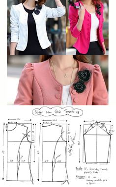 Blazer Sewing Pattern Casual Pattern Inspiration For The Non Girly Sewist Allspice Abounds Coat Patterns, Dress Sewing Patterns, Clothing Patterns, Fashion Sewing, Diy Fashion, Ideias Fashion, Womens Fashion, Blazer Pattern, Jacket Pattern