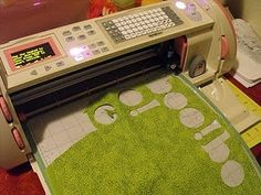 Ucreate post - Modern Monogram. Use cricut to cut letters, etc. for applique, post also has quilting instructions