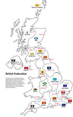 Maps on the Web — Alternative Hypothetical British Federation.