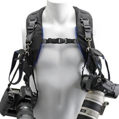 The Think Tank Photo Camera Support Straps V2.0 are a convenient and comfortable way to attach one or two cameras to backpack straps or a harness. By using the Camera Support Straps V2.0, the weight o