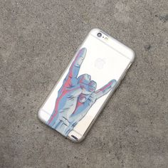 """Clear Plastic Case Cover for iPhone 6 (4.7"""") Rock On"""