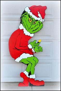 Life Sized Grinch Grinch Yard Art  Christmas by PricklyPaw on Etsy