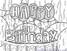 Weird happy birthday coloring pages doodle art alley Blank Coloring Pages, Coloring Pages For Kids, Coloring Sheets, Coloring Letters, Coloring Book, Birthday Calendar Board, Happy Birthday Coloring Pages, Free Adult Coloring, Travel Crafts