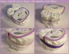 Step 4. DIY Owl Diaper Cake Tutorial