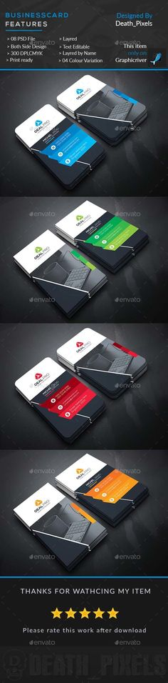 Business Card — Photoshop PSD #logo #black • Available here → https://graphicriver.net/item/business-card/17965511?ref=pxcr