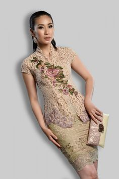Pramesti Krem – Home Vera Kebaya, Kebaya Lace, Kebaya Brokat, Kebaya Dress, Batik Kebaya, Dress Pesta, Kebaya Hijab, Blouse Batik, Batik Dress
