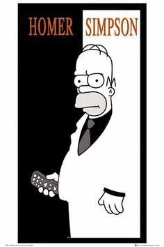 Poster Homer Scarface | Merchandising Películas