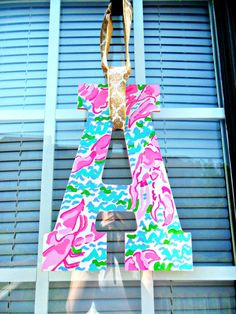 Lilly Pulitzer letters- etsy site