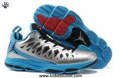 new concept 2574c 00c3b Authentic Metallic Silver Black Signal Blue Blue Glow CP3 Shoes 2013 Jordan  CP3.VI Nike