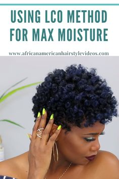 Moisture is critical to natural hair care. The lco method is great way to maximise it. Natural Hair Care, Natural Hair Styles, Short Hair Styles, Lco Method, Hair Hacks, Black Hair, Moisturizer, Skin Care, Beauty